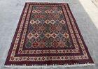 6'5 x 10 High quality hand knotted afghan merino wool beljik rug, Very rare rug