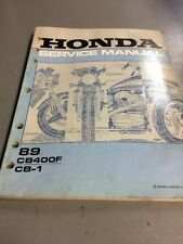 Honda Service Manual CB400F CB-1 1989