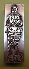 """KING RICHARD"" (BRASS RUBBING) PRINTING BLOCK."