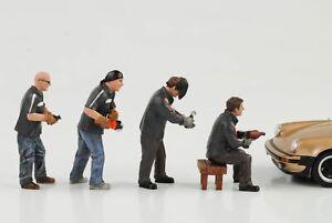 Restoration Mechanic Chop Shop Workshop Set 4 Figures Figure 1:24 American Di
