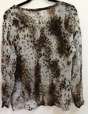 As New Witchery Ladies Leopard print top size 12