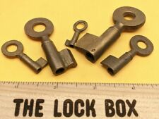 Lot Of 5 Antique Brass Barrel Keys Old Locksmith Key Blanks