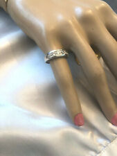 Cubic Zirconia Band Style 925 Stamped Ring With