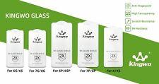 KingWo Panzer-Glas für iPhone Panzerfolie Schutzfolie Display Schutzglas 9H 2X