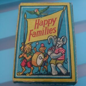 Vintage Happy Families Card Game. Complete With Instructions Card