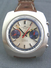 Armband-Chronograph Jaquet-Girard Geneve Valjoux cal.7733 Stahl ca.60er Jahre