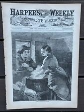 Harper's Weekly 7/15/1865 famous Winslow Homer football print! Grant + staff