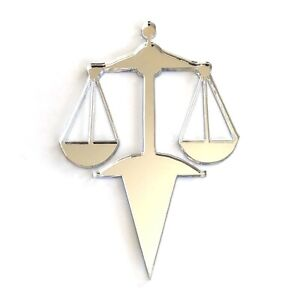 Scales of Justice Cake Toppers, Various Colours, Sizes & Personalised Options