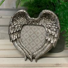 Silver Resin Angel Wing Photo Frame Vintage Retro Wall or Freestanding Wings