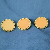 Lotto di Bottoni gioiello vintage colore oro e salmone rotondi per cucito sarta