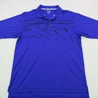 Adidas Golf Climacool Mens Polo Shirt Purple Solid Short Sleeve Stretch Medium