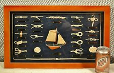 Nautical Knot Board with Ship