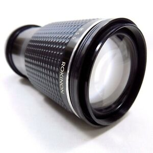 Rokinon Camera Lens F 1:4 75-200mm Made In Japan K Mount (Needs Cleaning)
