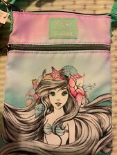 LOUNGEFLY DISNEY THE LITTLE MERMAID ARIEL CROSS BODY FABRIC BAG NEW UK SELLER