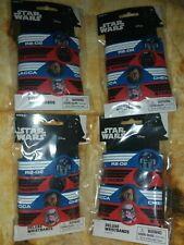 4ct packs of 4 Star Wars Episode Viii Deluxe Rubber Bracelets (16 total)
