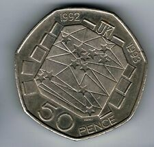 More details for 1992-1993 50p fifty pence- eec presidency europe dual date coin