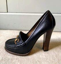 Genuine Gucci Black Leather Pump Heels UK7 EU 40