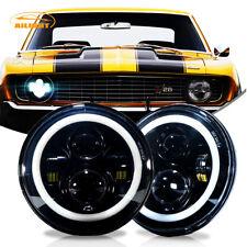 7 Inch 120w Total Cree Black LED Headlights Chevy C10 K10 Pickup Camaro G10 G20