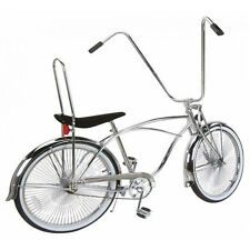 "26"" Lowrider bike Beach Cruiser with  144 spokes wheels Chrome"