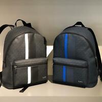 Michael Kors Mens Large Leather Travel Shoulder  Backpack Bag Baltic/Marin Black