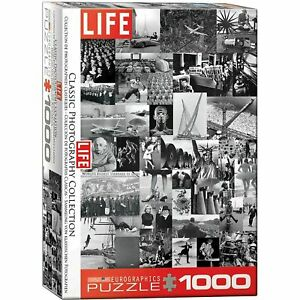Jigsaw Puzzle Life Classic Photography 1000 piece Black & White New Sealed USA