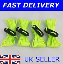 X4 FLUORESCENT GREEN / YELLOW Guy Line Ropes 2.4 M Tent Camping bright rope