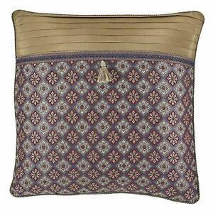 "Croscill Margaux European Pillow Sham in Red/Blue 26"" x 26"""