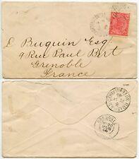 AUSTRALIA QUEENSLAND 1896 CHARTERSTOWERS DUPLEX CANCEL 2 1/2d to GRENOBLE