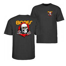 Bones Ripper Powell Peralta Brigade T-Shirt Charcoal Skull OG Skateboard Large