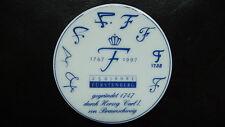 FÜRSTENBERG Medaille    Porzellan    250 Jahre FÜRSTENBERG    1747-1997    TOP!