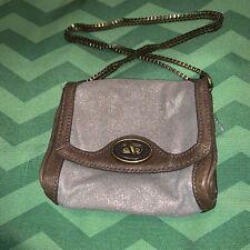Fossil LEATHER Ladies  Kiss Lock Chain Strap Mini Bag