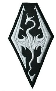 Skyrim Embroidered Iron on Patch