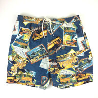 Caribbean Joe Swim Trunks Board Shorts Tropical Trinidad Florida Aloha Sz Large