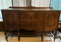 Antique Buffet Cabinet Sideboard Server Wood