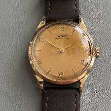 Vintage TISSOT Antimagnetique 27-2T. Ref: 6437-5 Gold Plated. Running. 33.5mm