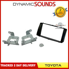 Black Double Din CD Car Fascia Facia Trim Panel Kit For Toyota Corolla 2003-08