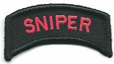 "1 "" x 2 1/4 "" Rouge Noir Sniper Languette Patch hook & loop tape Crochet"