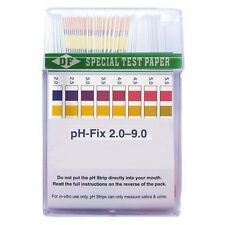 100x Tests / Tiras reactivas pH para medir de 2.0 a 9.0 pH - 0.5 (DF®)