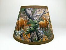 Primitive Deer Moose Bear Turkey Tree Camo Fabric Lampshade Lamp Shade