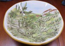 """Opificio Etico Ceramiche ~ Soup/Pasta Bowl ~ Made In Italy ~ 8.5"""" ~ Country Side"""