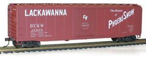 HO Accurail Kit Lackawanna AAR 50' Riveted-Side Plug-Door Boxcar Kit 5136 IC196