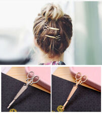 1 PC Fashion Gold Simple Scissor Shape Hairpin Pin Clip Hair Bobby Barrette