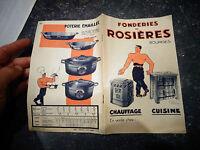Ancien Catalogue Fonderie Rosières Bourges Ancienne CuisinièrePoele Fonte Dransy