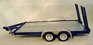 SUPERIOR 1/24 SS0602 SUNNYSIDE DIE CAST & PLASTIC FLATBED CAR TRAILER - BLUE