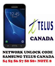 Network Unlock Code Telus Canada Samsung Galaxy Note 2 Note 3 Note 4 Note 5