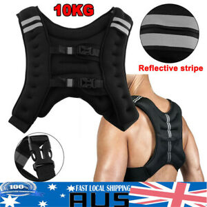 10KG Weight Weighted Vest Adjustable Sport Strength Training Gym Fitness Running