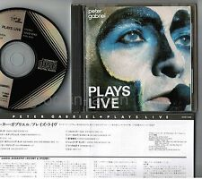 PETER GABRIEL Plays Live JAPAN CD 32VD-1046 1A1 TO 1986 1st issue BLACK TRIANGLE