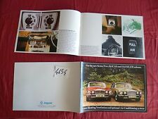 N°4654bis / JAGUAR : catalogue The new series Two and Daimler saloons   1973