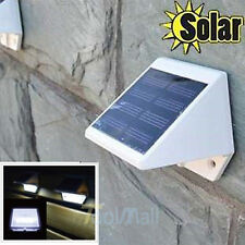 1x 4LED Solar Powered Stairs Fence Garden Security Lamp Outdoor Waterproof Light
