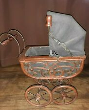 New ListingVintage Wicker Wood Metal Baby Doll Buggy / Carriage / Stroller